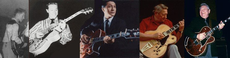 montage of pics of Scotty Moore